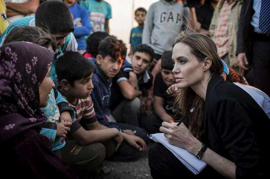 Angelina Jolie Visits Syrian Border With UNHCR