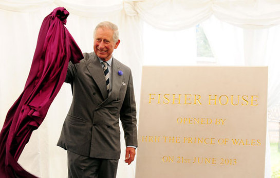 Prince Charles Opens Fisher House