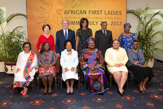 George and Laura Bush Join Michelle Obama and the African First Ladies