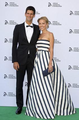 Novak Djokovic and girlfriend Jelena