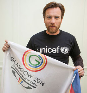 Ewan McGregor Supports UNICEF Glasgow 2014 Commonweath Games Initiative