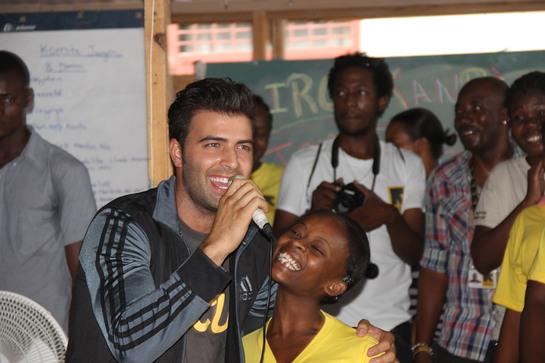 Jencarlos Canela Brings Joy to Haiti