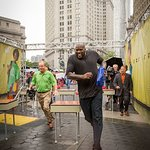 Shaq O'Neal Runs Obstacle Course For Charity