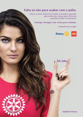 Isabelli Fontana signs on as Rotary celebrity ambassador for polio eradication