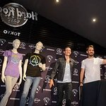 Linkin Park Unveils Charity T-Shirt At Hard Rock In Tokyo