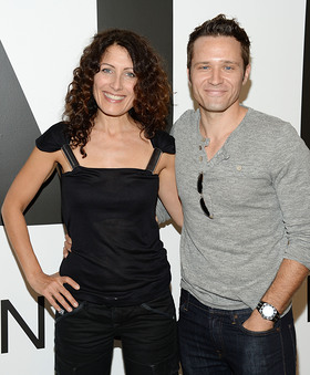 Lisa Edelstein and Seamus Dever