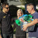 NASCAR's Aric Almirola Surprises Millitary Family