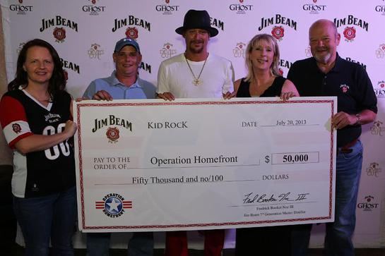 Kid Rock was in Dallas last month to present a $50,000 check on behalf of Beam Inc. to Operation Homefront