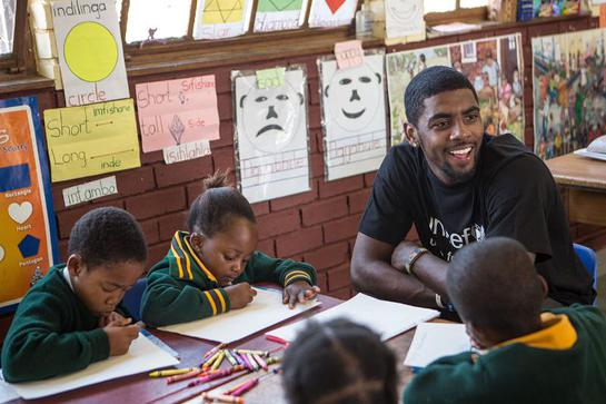 NBA All-Star Kyrie Irving Visits Schools in South Africa with UNICEF