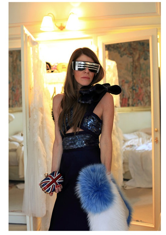 Anna Dello Russo in Stevie Boi glasses.