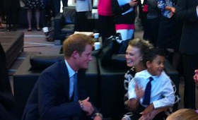 Prince Harry meeting WellChild families at the BGC event.