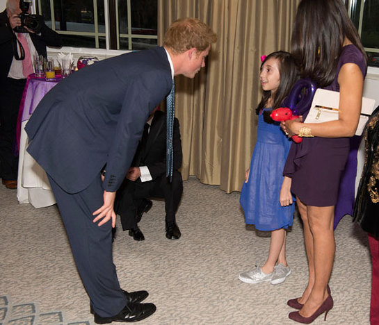 Prince Harry talks to Nicole Christou