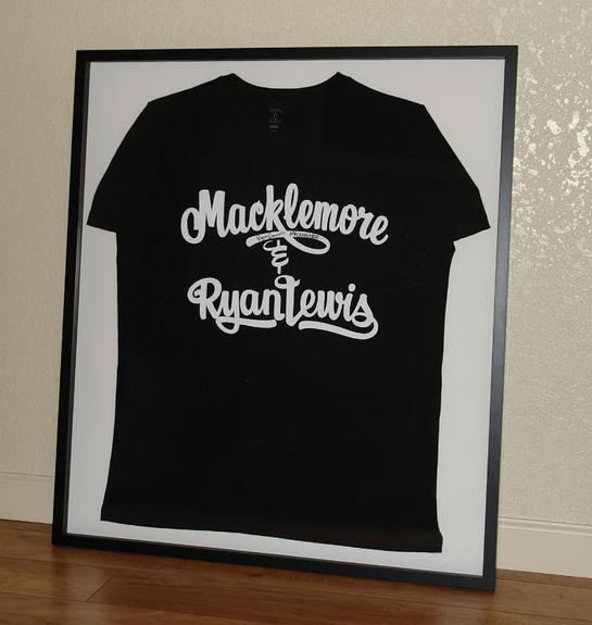 Macklemore & Ryan Lewis autographed shirt.