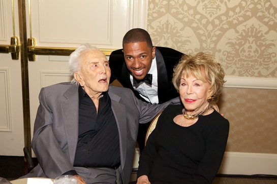 Nick Cannon With Kirk and Anne Douglas