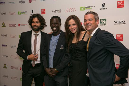 Adrian Grenier, Okello Sam, Mary-Louise Parker, and Christopher Talbott