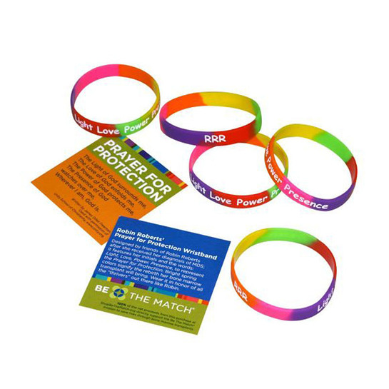 Robin Roberts' Prayer For Protection wristbands at ShopBeTheMatch.org and Sephora - Time Square.