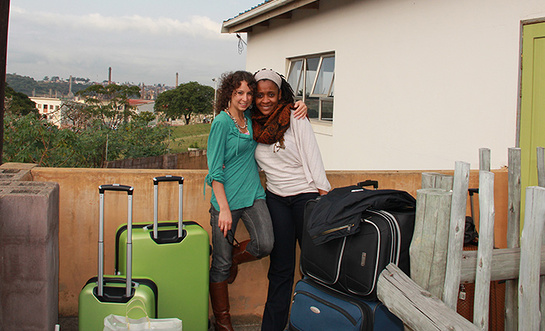Cristina Jade Peña meets up with Alana (Sr. Program Officer, Keep a Child Alive) in South Africa
