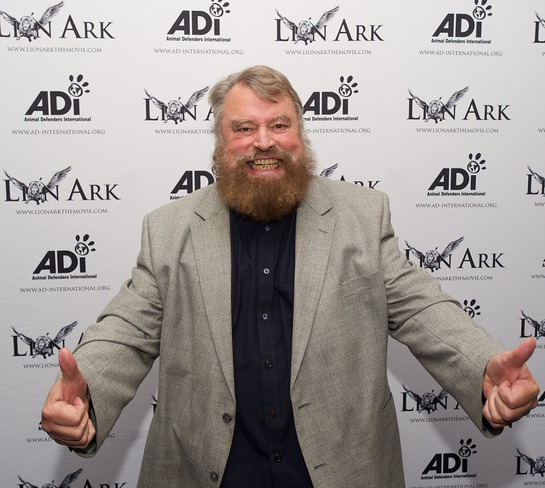 Brian Blessed roars his approval for ADI Films' action-documentary Lion Ark at its world premiere at the Raindance Film Festival © Animal Defenders International