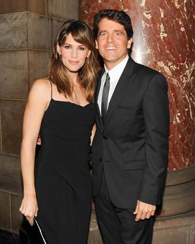 Actor and Save the Children artist ambassador Jennifer Garner with Mark Shriver, senior vice president for Save the Children.
