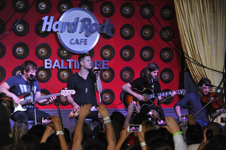Imagine Dragons perform at the Grand Reopening party of Hard Rock Cafe Baltimore on Tuesday, October 1, 2013.