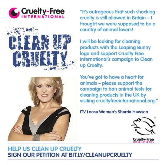 Sherrie Hewson supports Cruelty Free International