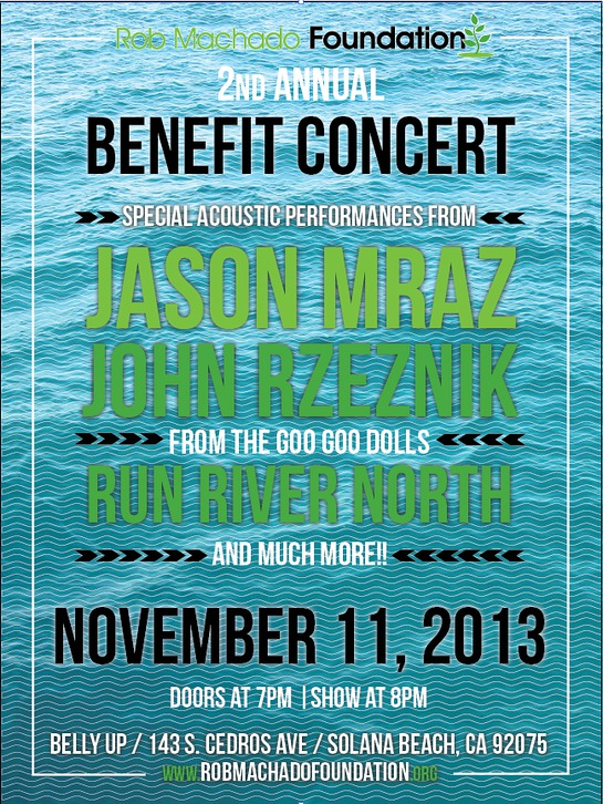 Rob Machado Foundation Benefit Concert