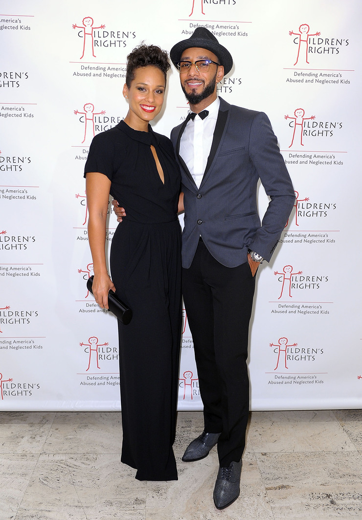 Alicia Keys and Swizz Beatz at 8th Annual Children's Rights Benefit