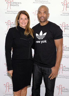 Lorraine Bracco and Darryl DMC McDaniels at the Children's Rights Benefit