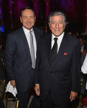 Kevin Spacey attends Tony Bennett and Susan Benedetto's Exploring the Arts Gala