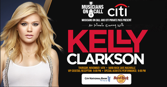Kelly Clarkson Musicians On Call Concert