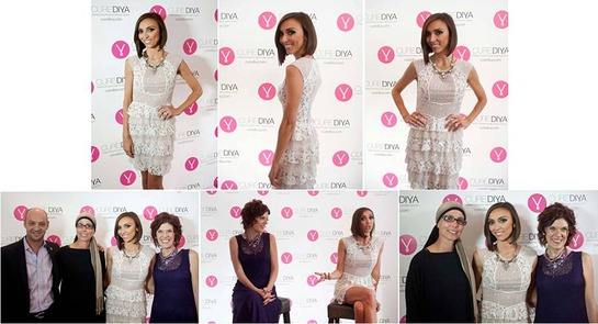 Giuliana Rancic Joins CureDiva co-founders Dan Vigdor, Ester Gofer and Efrat Roman at Website Launch Event