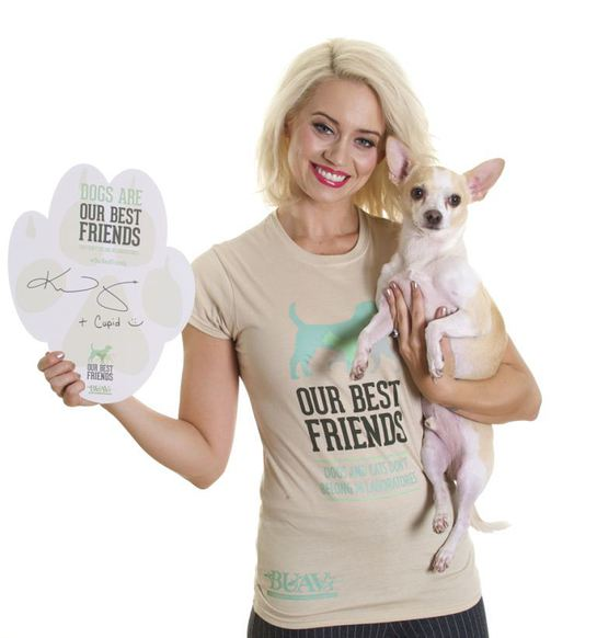 Kimberly Wyatt with her dog Cupid
