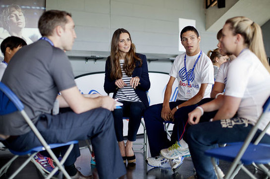 Duchess Of Cambridge Visits Sportsaid Look To The Stars