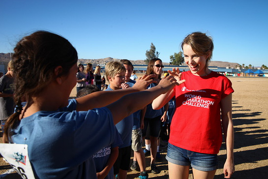 Bridgit Mendler Takes On The Save the Children's World Marathon Challenge