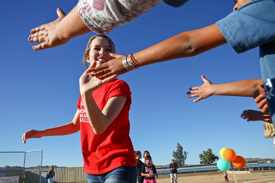 Bridgit Mendler In The Yucca Valley With Save The Children