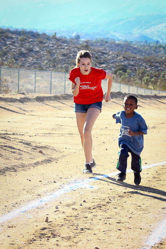 Bridgit Mendler Races In The Yucca Valley