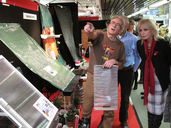 Inventor Alexander Bushell shares details with Joanna Lumley