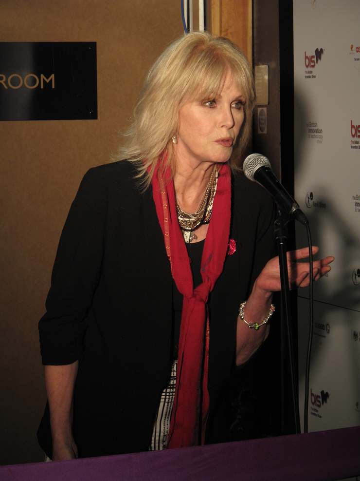 Joanna Lumley opens the British Invention Show in London