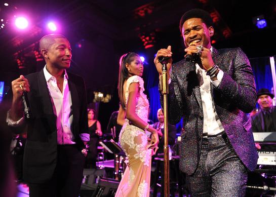 Pharrell Williams and Usher Rock The Angel Ball