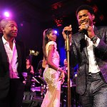 Usher Joins Pharrell Williams Onstage At Angel Ball