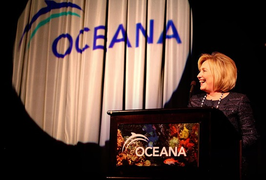 Hillary Clinton at 2013 Oceana Partners Awards Gala