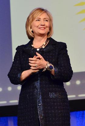 Hillary Rodham Clinton speaks on stage at the Pennsylvania Conference for Women 2013 at the Philadelphia Convention Center on November 1, 2013 in Philadelphia