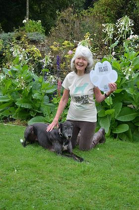 Jilly Cooper supporting the BUAV's Our Best Friends campaign