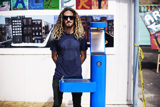 Rob Machado With Water Refill Station