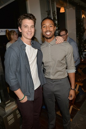 Miles Teller and Michael B. Jordan attend BJGG