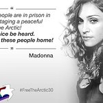 McCartney, Madonna and Cotillard call for release of Arctic 30