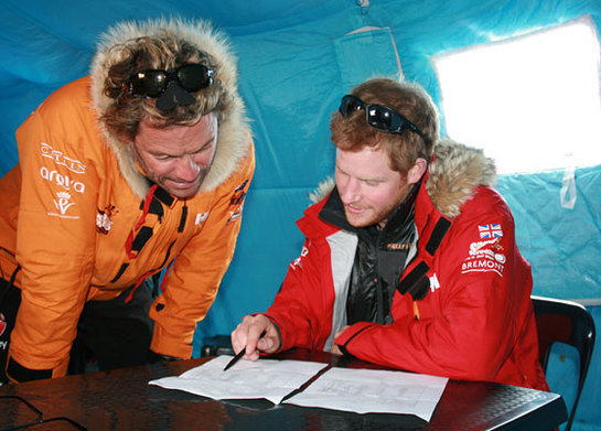 Prince Harry and Dominic West check kit weights