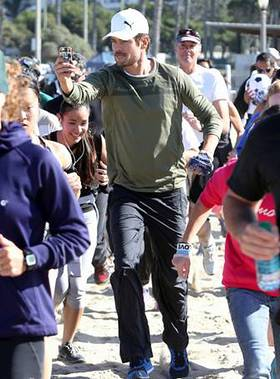 Josh Duhamel takes part in PUMA Run/Walk for Philippines Relief