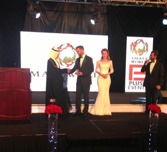 Ricky Martin receives award at Small World gala