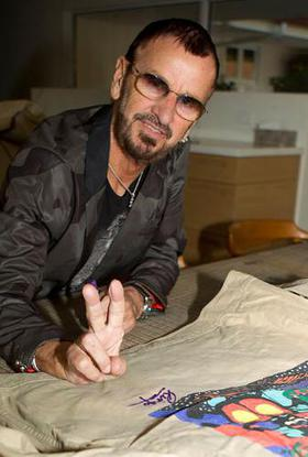 Ringo Starr joined today in the national #GivingTuesday movement by donating twenty-five autographed jackets to be sold on eBay in support of WaterAid